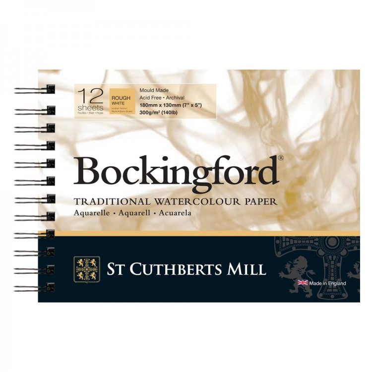 Bockingford : Spiral Pad : 5x7in : 300gsm : 12 Sheets : Rough