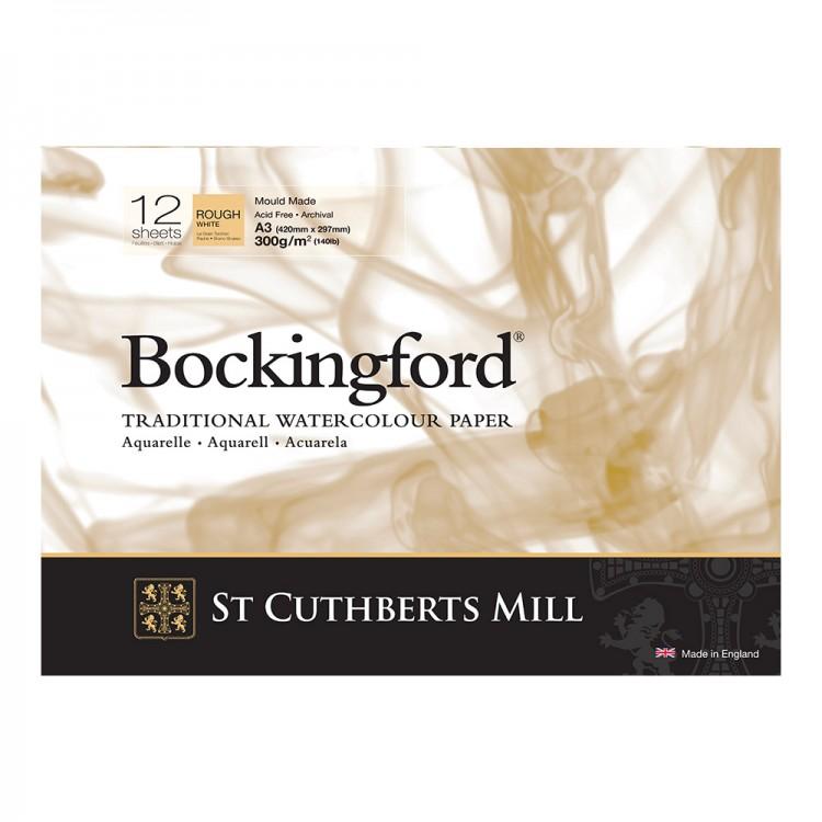 Bockingford : Watercolour Paper : Glued Pad : 300gsm : 12 Sheets : A3 : Rough