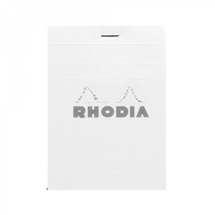 Rhodia : No.12 Basics Grid Pad : White Cover : 80 Sheets : 8.5x12cm