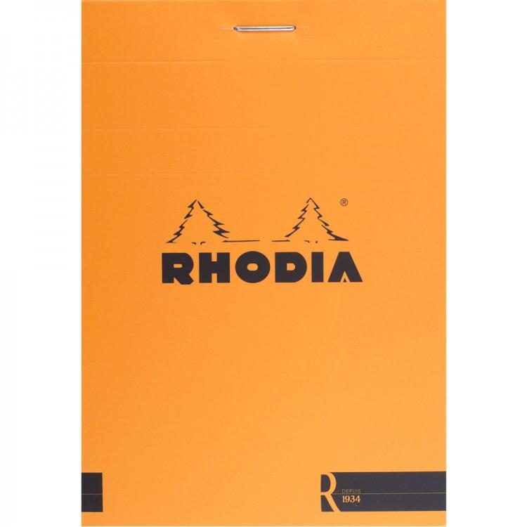 Rhodia : Basics Lined Pad : Orange Cover : 80 Sheets : 8.5x12cm