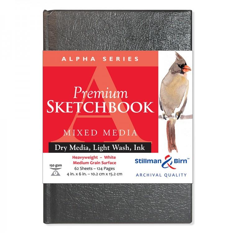 Stillman & Birn : Alpha Sketchbook 4 x 6in Hardbound 150gsm - White Vellum