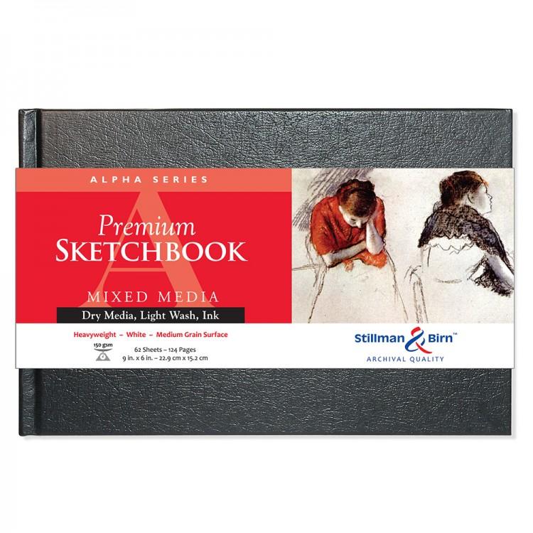 Stillman & Birn : Alpha Sketchbook 9 x 6in Hardbound 150gsm - Natural White Vellum