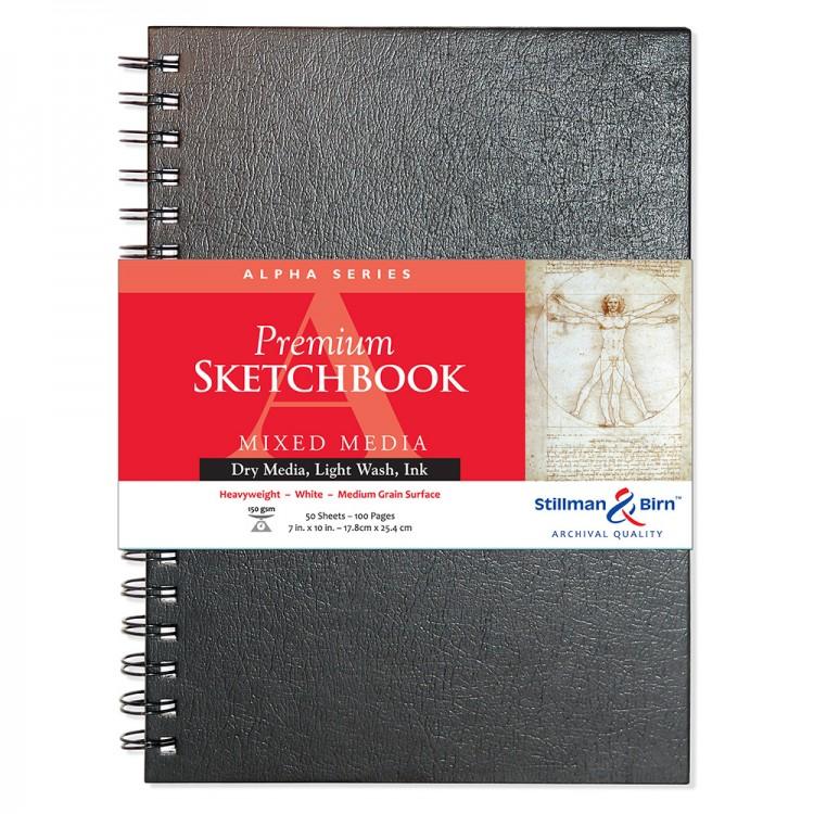 Stillman & Birn : Alpha Sketchbook 7 x 10in Wirebound 150gsm - Natural White Vellum
