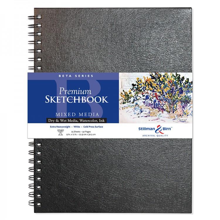 Stillman & Birn : Beta Sketchbook 9 x 12in Wirebound 270gsm - Natural White Cold Press/Rgh