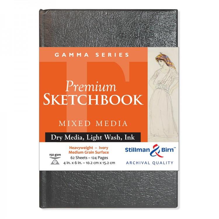 Stillman & Birn : Gamma Sketchbook 4 x 6in Hardbound 150gsm - Ivory Vellum