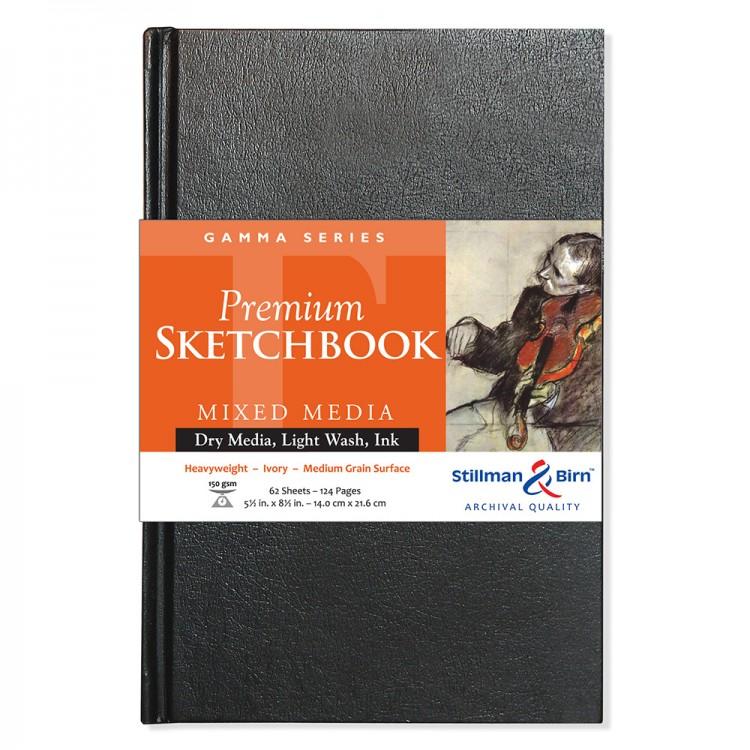 Stillman & Birn : Gamma Sketchbook 5.5 x 8.5in Hardbound 150gsm - Ivory Vellum
