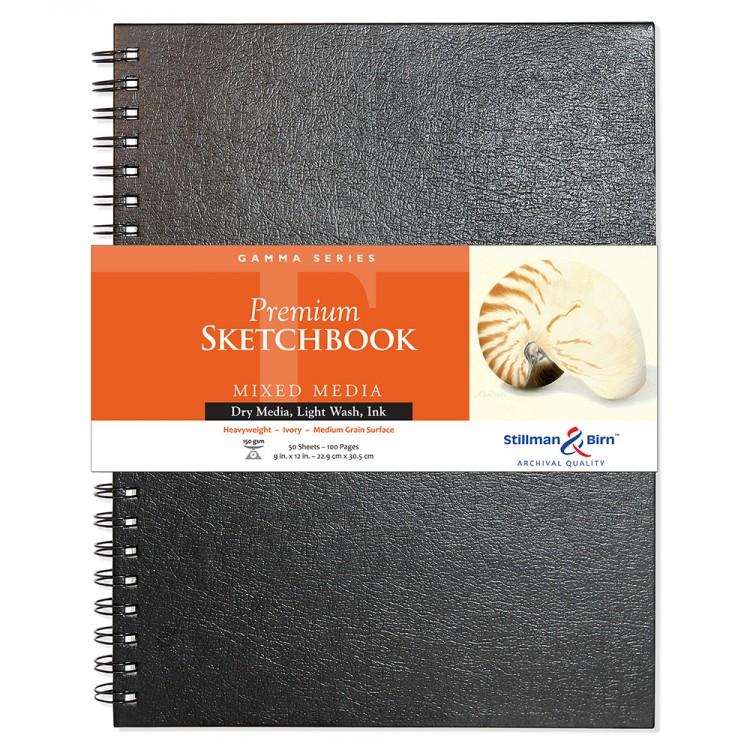 Stillman & Birn : Gamma Sketchbook 9 x 12in Wirebound 150gsm - Ivory Vellum