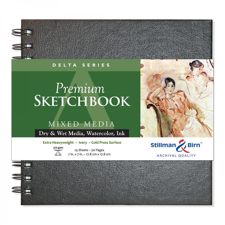Stillman & Birn : Delta Sketchbook : 7 x 7in Wirebound 270gsm : Ivory : Cold Pressed / Rough