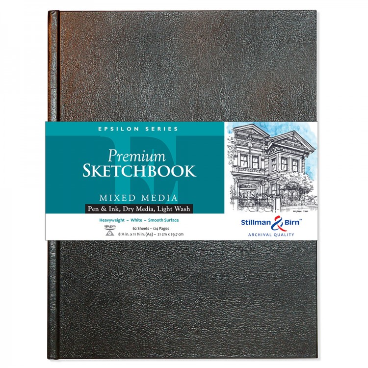 Stillman & Birn : Epsilon Sketchbook 8.25 x 11.75in (A4) Hardbound 150gsm - Natural White Smooth