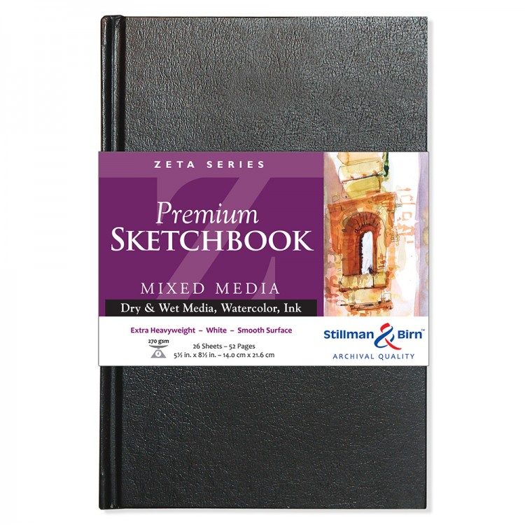 Stillman & Birn : Zeta Sketchbook : 5.5 x 8.5in Hardbound 270gsm : Natural White Smooth
