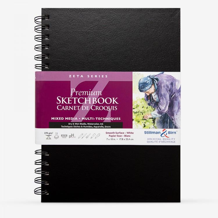 Stillman & Birn : Zeta Sketchbook 7 x 10in Wirebound 270gsm - Natural White Smooth