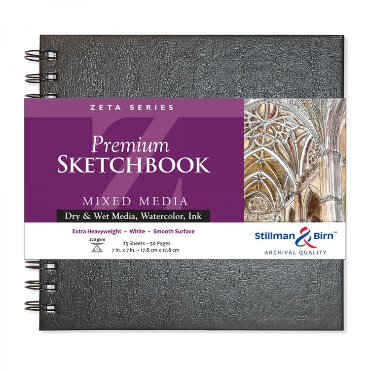 Stillman & Birn : Zeta Sketchbook 7 x 7in Wirebound 270gsm - Natural White Smooth