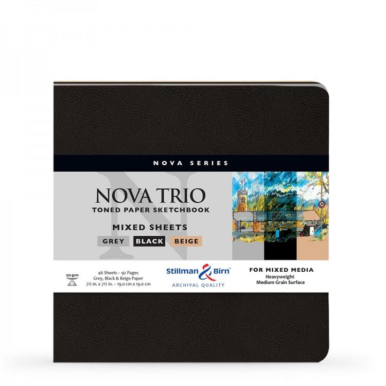 Stillman & Birn : Nova Trio : Softcover Mixed Media Sketchbook : 150gsm : 7.5x7.5in (19x19cm)