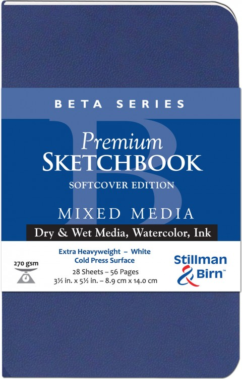 Stillman & Birn : Beta Softcover Sketchbook : 270gsm : Cold Press : 3.5x5.5in (9x14cm) : Portrait