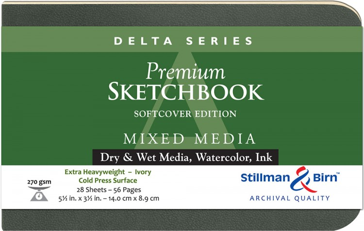Stillman & Birn : Delta Softcover Sketchbook : 270gsm : Cold Press : 5.5x3.5in (14x9cm) : Landscape