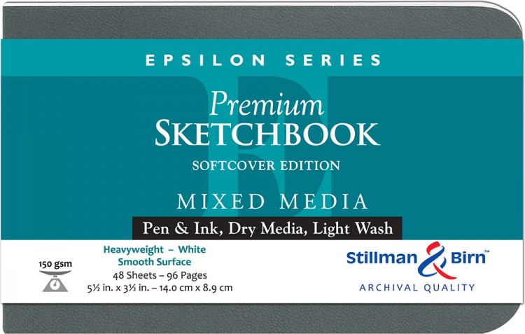 Stillman & Birn : Epsilon Softcover Sketchbook : 150gsm : Smooth : 5.5x3.5in (14x9cm) : Landscape