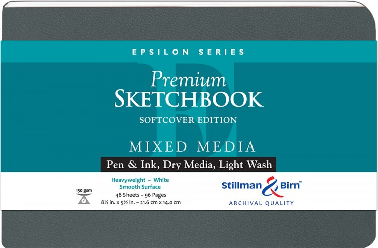 Stillman & Birn : Epsilon Softcover Sketchbook : 150gsm : Smooth : 8.5x5.5in (14x22cm) : Landscape