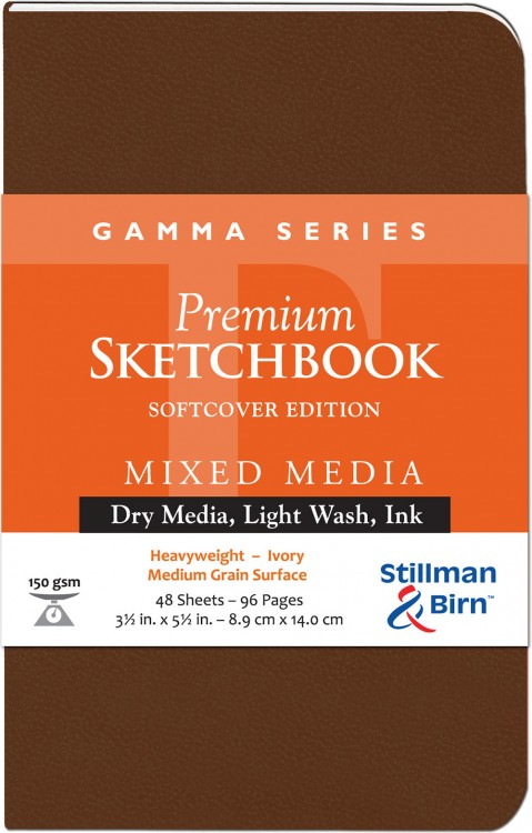 Stillman & Birn : Gamma Softcover Sketchbook : 150gsm : Med Grain : 3.5x5.5in (9x14cm) : Portrait