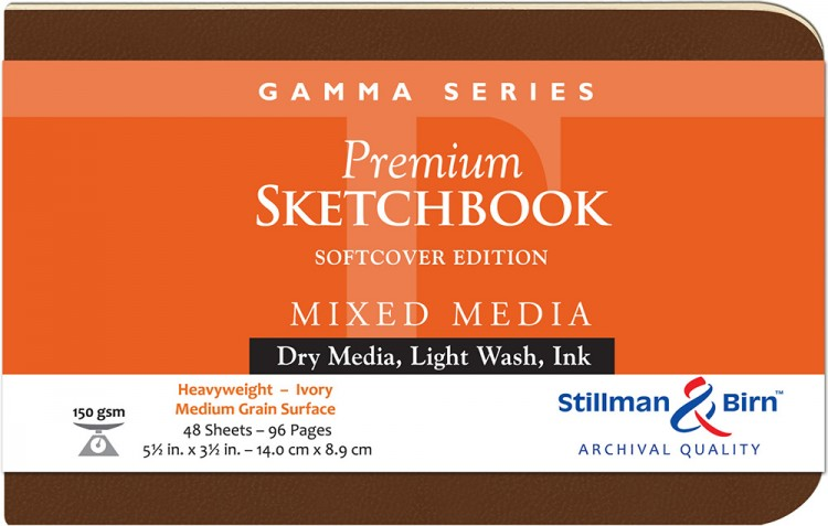 Stillman & Birn : Gamma Softcover Sketchbook : 150gsm : Med Grain : 5.5x3.5in (14x9cm) : Landscape