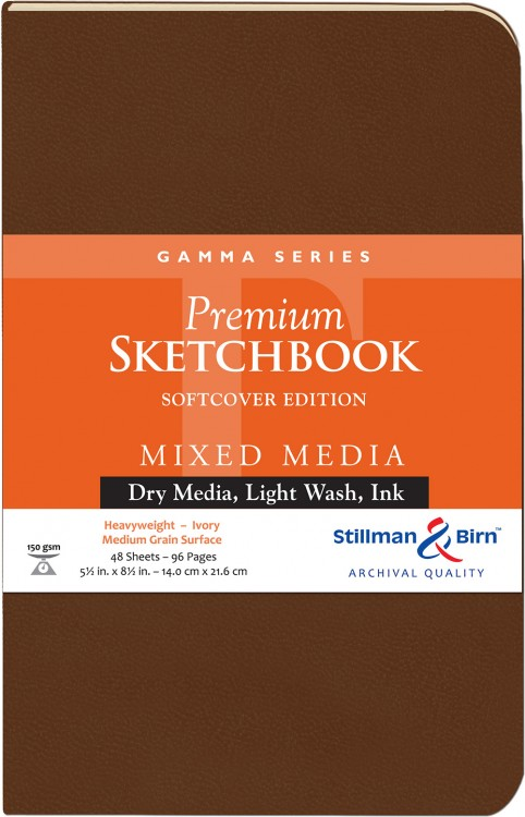 Stillman & Birn : Gamma Softcover Sketchbook : 150gsm : Med Grain : 5.5x8.5in (22x14cm) : Portrait