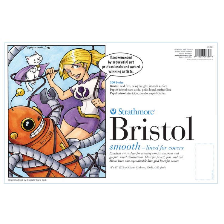 Strathmore : 200 Series : Bristol Pad : 270gsm : 11x17in : Smooth