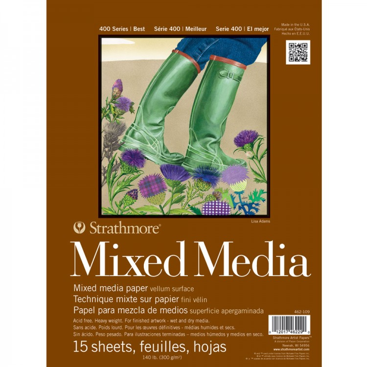 Strathmore : 400 Series Mixed Media Pad : 140lb 9X12 Inch
