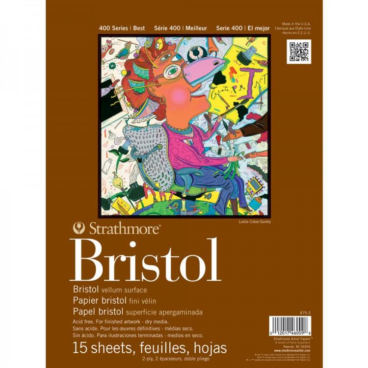 Strathmore : 400 Series : Bristol Pad : 9x12in : 2Ply Vellum (Medium)