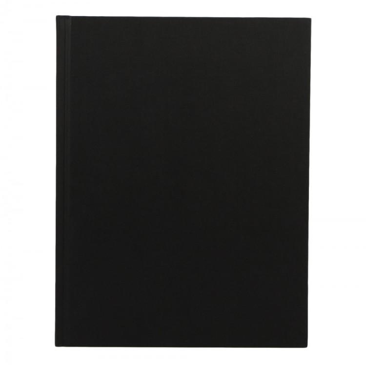 Seawhite : Jackson's : Black Cloth Bound Sketchbook 140gsm : Portrait 25x19cm