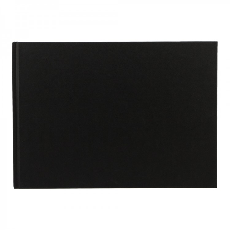 Seawhite : Black Cloth Case Bound Sketchbook 140gsm : A4 Landscape