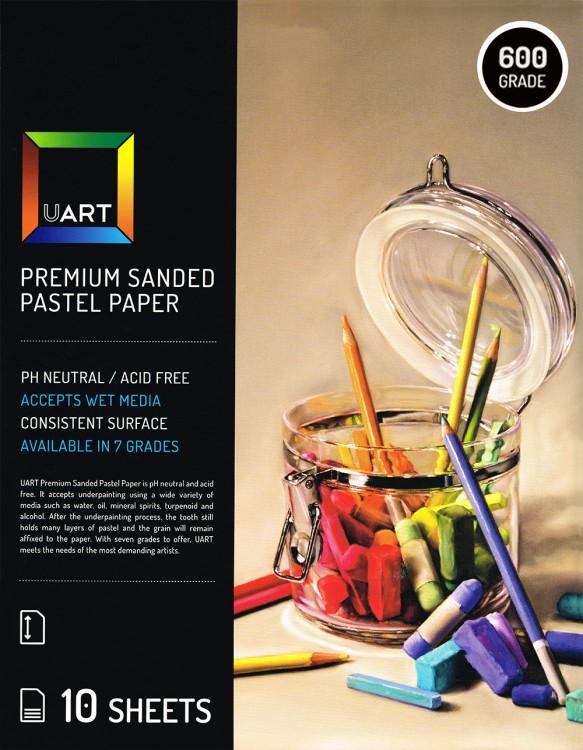 UART : Sanded Pastel Paper : 10 Sheet Pack : 18x24in (46x61cm) : 600 Grade