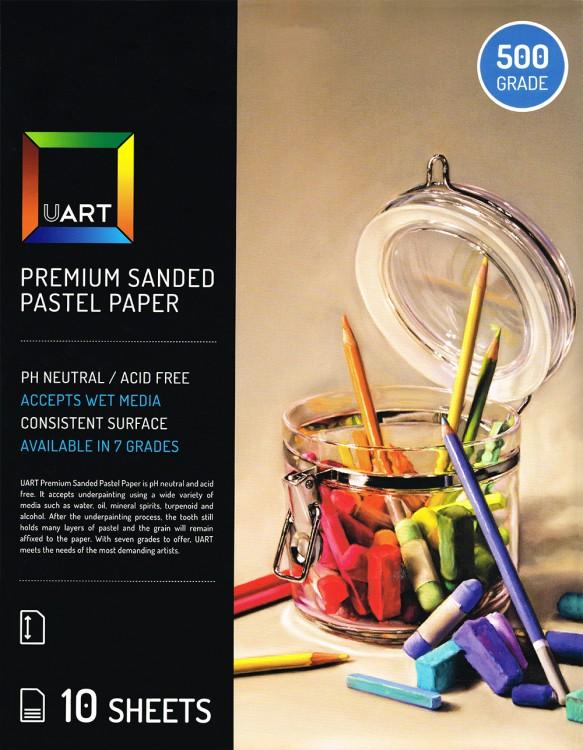 UART : Sanded Pastel Paper : 10 Sheet Pack : 21x27in (53x69cm) : 500 Grade