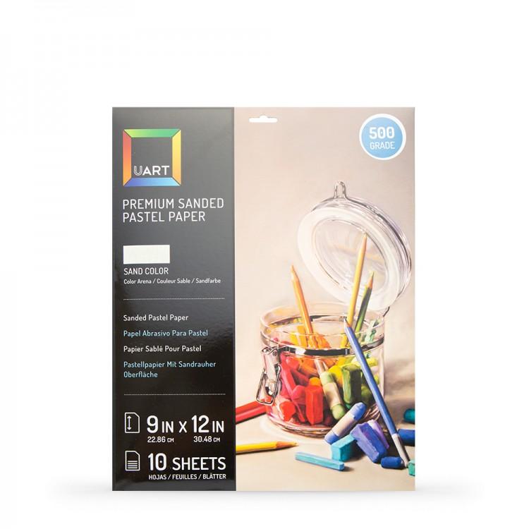 UART : Sanded Pastel Paper : 10 Sheet Pack : 9x12in (23x30cm) : 500 Grade