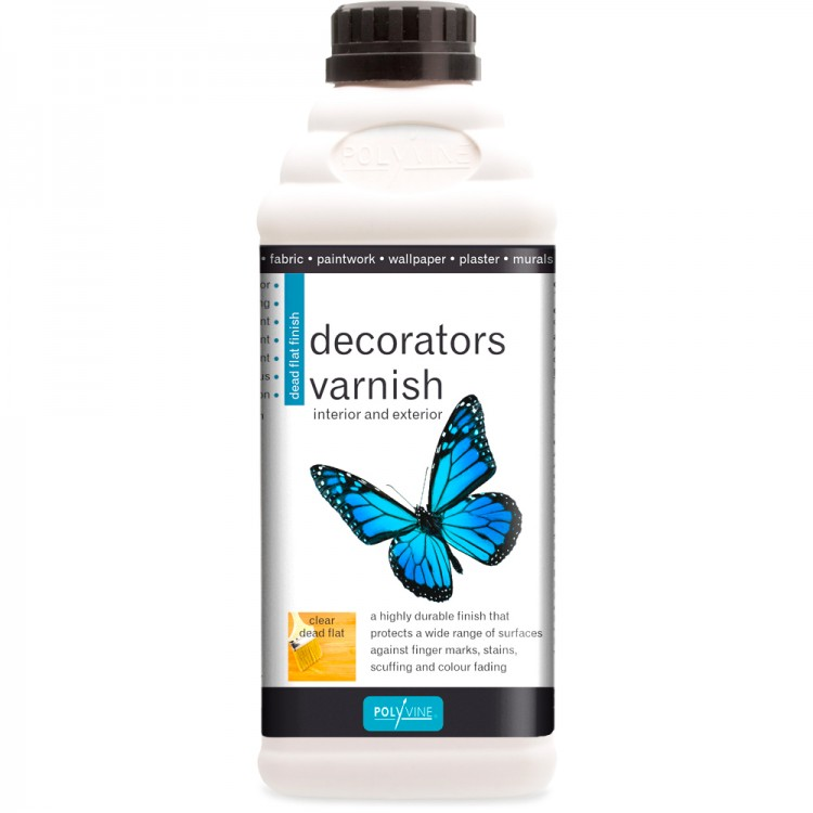 Polyvine : Dead Flat Decorators Varnish (interior/exterior) : 1 litre