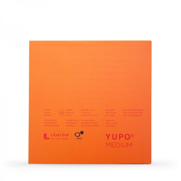 Yupo : Medium Watercolour Paper Pad : 74lb (200gsm) : 7x7in : 10 Sheets : White