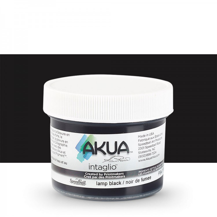 Akua : Intaglio Ink : 2oz : 59ml : Lamp Black