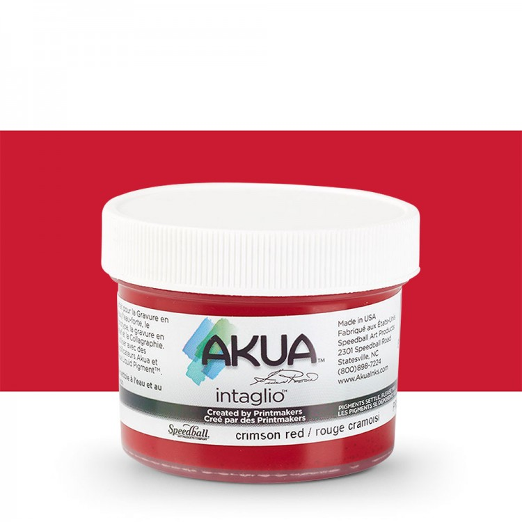 Akua : Intaglio Ink : 2oz : 59ml : Crimson Red