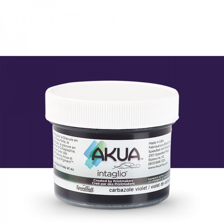 Akua : Intaglio Ink : 2oz : 59ml : Carbazole Violet