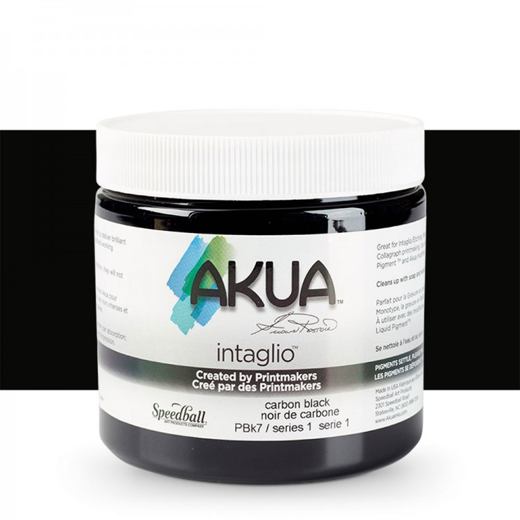 Akua : Intaglio Ink : 8oz : 236ml : Carbon Black