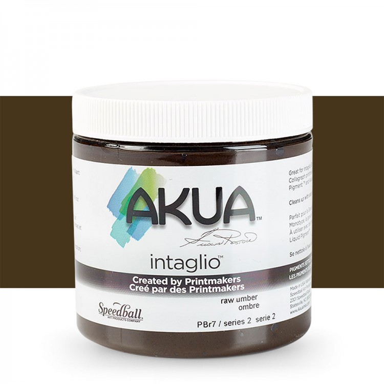 Akua : Intaglio Ink : 8oz : 236ml : Raw Umber