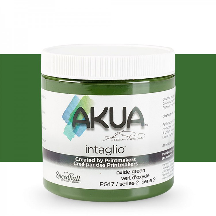Akua : Intaglio Ink : 8oz : 236ml : Green Oxide