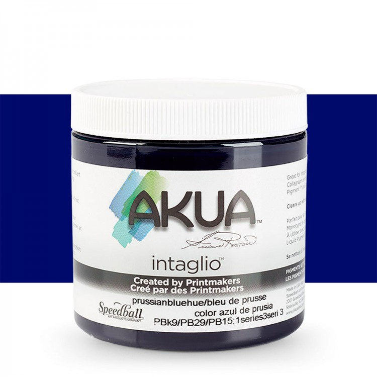 Akua : Intaglio Ink : 8oz : 236ml : Prussian Blue Hue