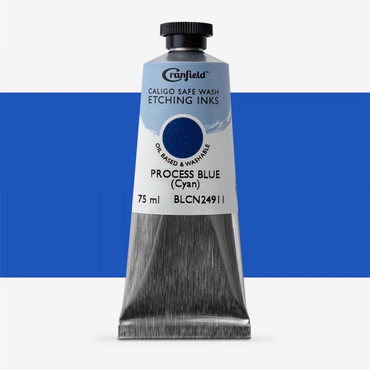 Caligo : Safe Wash : Etching Ink : 75ml : Process Blue (Cyan)