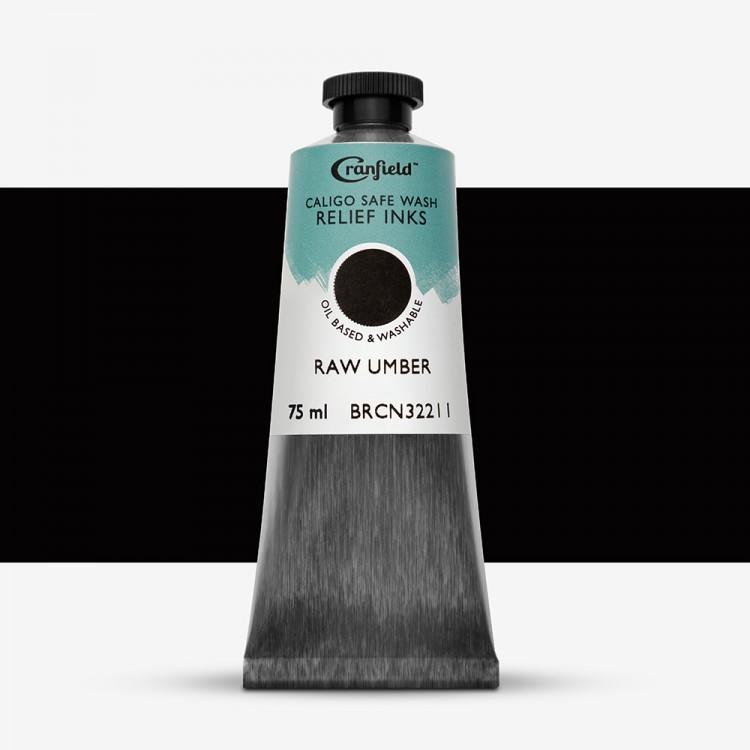 Cranfield : Caligo : Safe Wash : Relief Ink : 75ml : Raw Umber