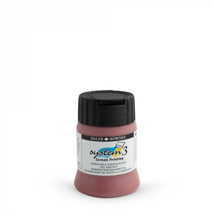 Daler Rowney : Removable Screen Block : Screen Printing Medium : 250ml