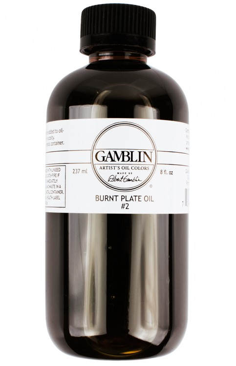 Gamblin : Burnt Plate Oil : Number 2 : 237ml