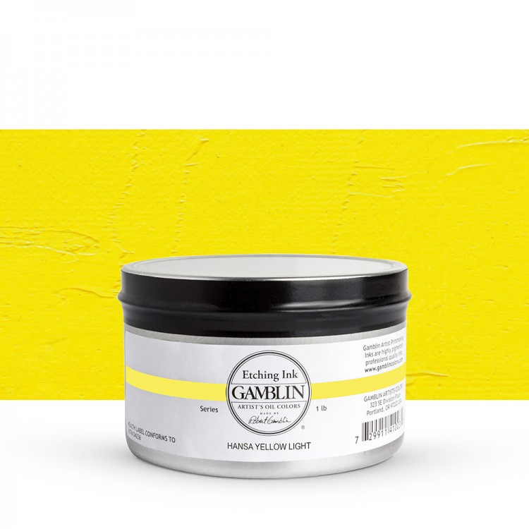 Gamblin : Etching Ink : 454g : Hansa Yellow Light