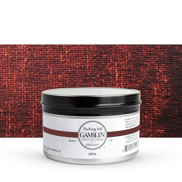 Gamblin : Etching Ink : 454g : Sepia