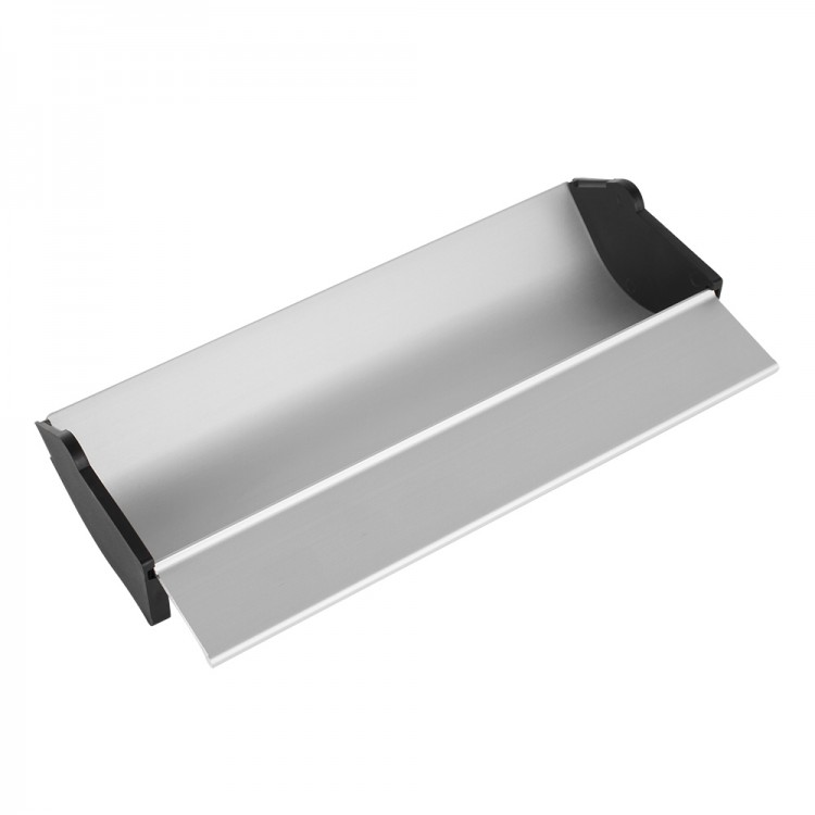 Jackson's : Aluminium Coating Trough : 11 inches : with plastic removable end caps