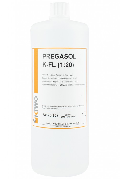 Kiwo : Pregasol K-FL Concentrate (1-20) : 1 litre : Decoater : Screen Printing Emulsion Remover