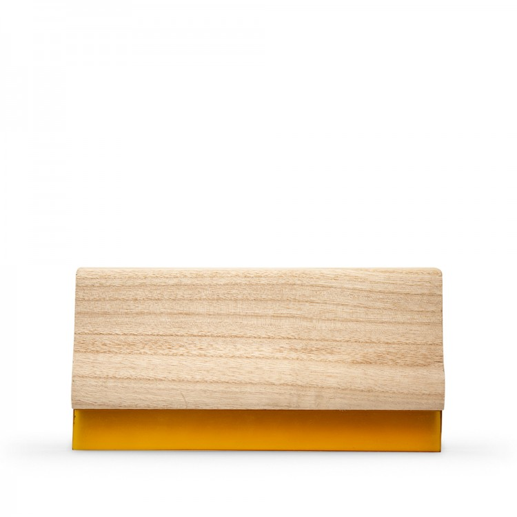 JAS : Wooden Squeegee With White Rubber 215mm Long